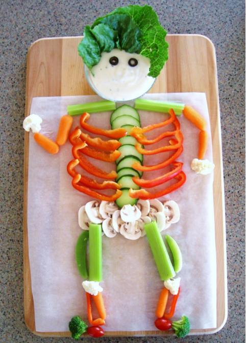 halloween-bambini-scheletro-verdura