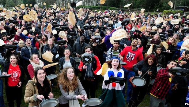 Pancake Day in Britain