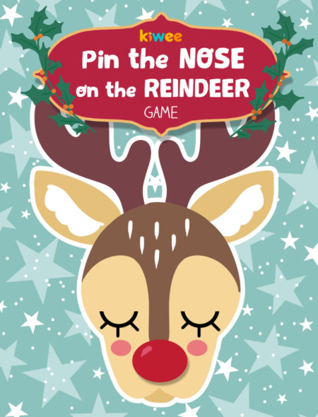 photo about Pin the Nose on Rudolph Printable called Xmas activity Pin the nose upon reindeer