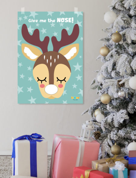 image about Pin the Nose on the Reindeer Printable named Xmas activity Pin the nose upon reindeer